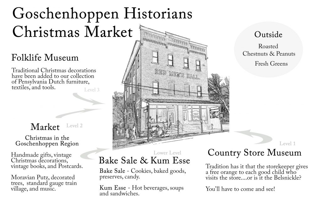 cm christmas market at red men s hall the goschenhoppen historians